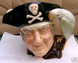 Royal Doulton Long John Silver Large Character Jug - 1951